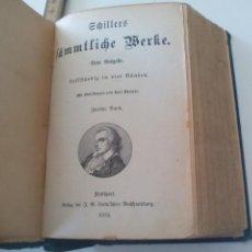 Libros antiguos: SCHILLERS SÄMTLICHE WERKE. NEUE AUSGABE IN VIER BÄNDEN. 2 BAND STUTTGART, COTTA 1874. Lote 124940219