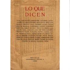 Libros antiguos: PROMOCIONAL DICCIONARIO MONTANER Y SIMÓN - RETRATOS POR ALONSO, BAGARÍA, K-HITO, LÓPEZ RUBIO.... Lote 125012691