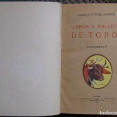 Libros antiguos: TAUROMAQUIA, LIBROS Y FOLLETOS DE TOROS, 1931. Lote 125041343
