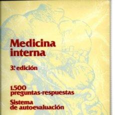 Libros antiguos: MEDICINA INTERNA. 1.500 PREGUNTAS - RESPUESTAS. . Lote 125053075