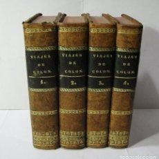 Alte Bücher - HISTORIA DE LA VIDA Y VIAJES DE CRISTÓBAL COLON. WASHINGTON IRVING.1833-1834. Excelente estado. - 125079663
