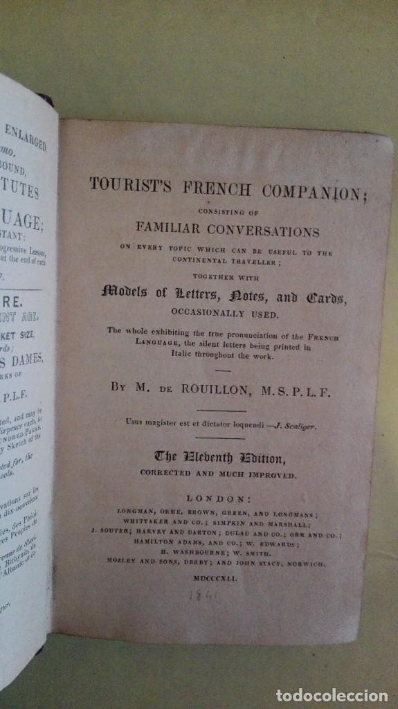 DE ROUILLON'S TOURIST'S FRENCH COMPANION CONSIDTING OF FAMILIAR CONVERSATIONS ON EVERY TOPIC WHICH (Libros Antiguos, Raros y Curiosos - Otros Idiomas)