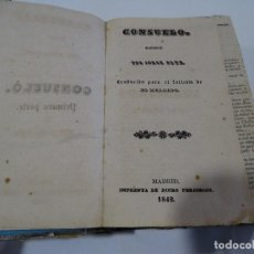 Libros antiguos: CONSUELO .JORGE SANO. TOMOS I-II-III (MISMO LIBRO ENCUADERNADOS EN LA ÉPOCA) 1842. Lote 125124331