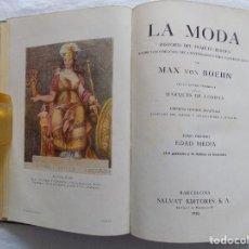 Libros antiguos: LIBRERIA GHOTICA. MAX BON BOEHN. LA MODA. HISTORIA DEL TRAJE EN EUROPA. EDAD MEDIA. 1928. Lote 125132823