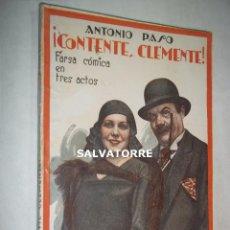 Libros antiguos: ANTONIO PASO.CONTENTE, CLEMENTE.FARSA COMICA.LA FARSA.1930.. Lote 125241075