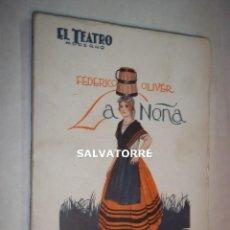 Libros antiguos: FEDERICO OLIVER.LA NEÑA. INTONSO.1927. EL TEATRO MODERNO. Lote 125241699