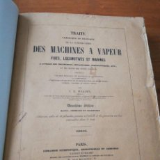 Libros antiguos: DES MACHINES A VAPEUR. C. E. JULLIEN. 1859. TEXTO Y ATLAS. . Lote 125275439