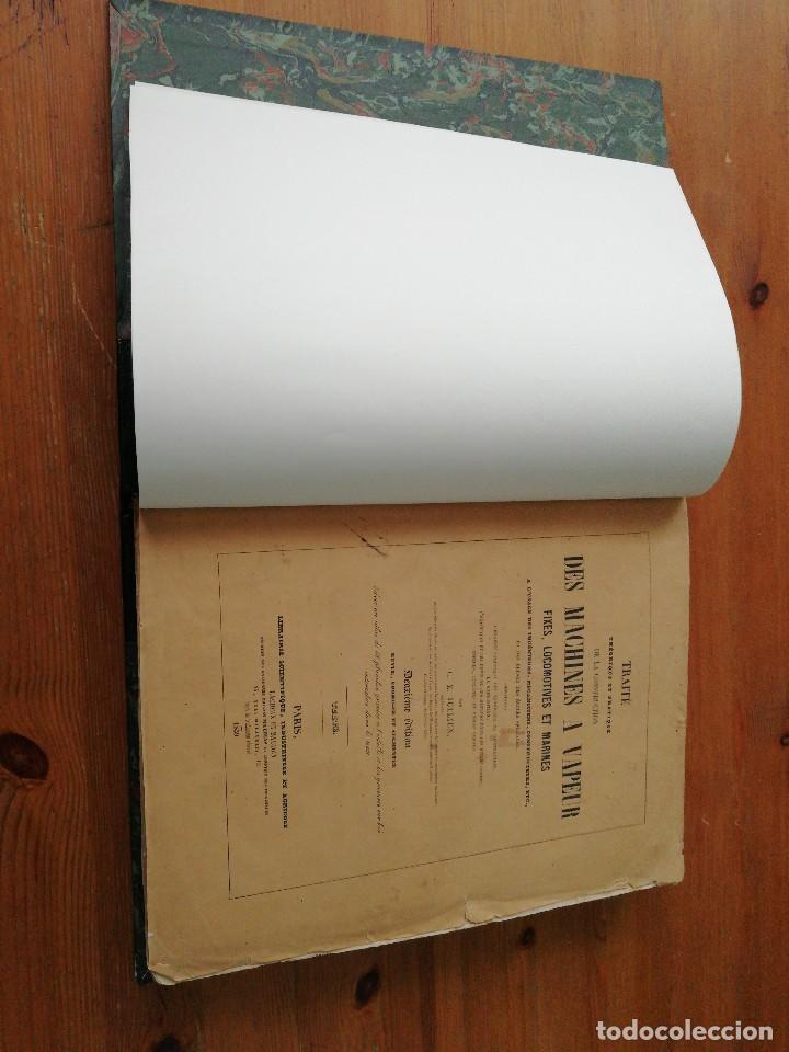 Libros antiguos: Des machines a vapeur. C. E. Jullien. 1859. Texto y Atlas. - Foto 7 - 125275439