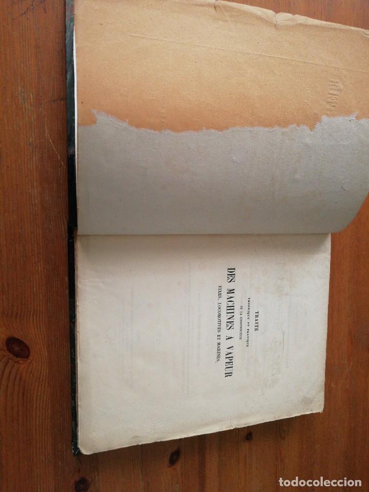 Libros antiguos: Des machines a vapeur. C. E. Jullien. 1859. Texto y Atlas. - Foto 8 - 125275439
