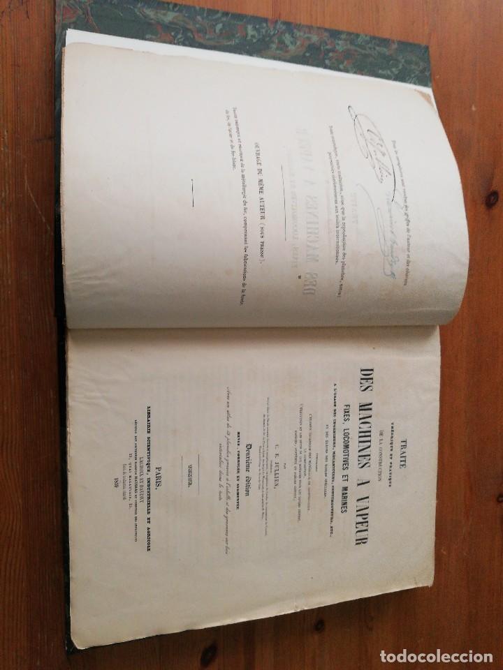 Libros antiguos: Des machines a vapeur. C. E. Jullien. 1859. Texto y Atlas. - Foto 9 - 125275439