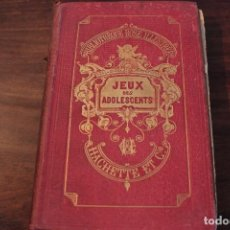 Libros antiguos: BELEZE, JEUX DES ADOLESCENTS - PARIS, 1891. Lote 125325407