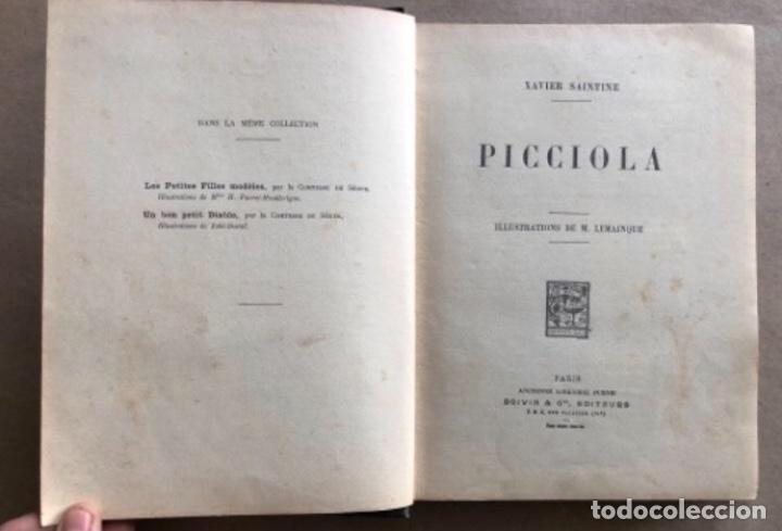 Libros antiguos: PICCIOLA, XAVIER SAINTINE (ED. BOIVIN & C, 1931). ILLUSTRATIONS DE M. LEMAINQUE. 186 PÁGINAS. ILU - Foto 2 - 125334895