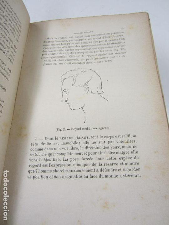 Libros antiguos: La mimique et la physiognomonie, Th. Piderit, 1888, Paris. 14,5x23cm - Foto 5 - 125374643