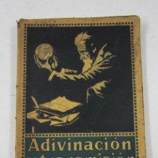 Libros antiguos: ADIVINACIÓN Y TRANSMISIÓN DEL PENSAMIENTO, TELEPATÍA, MARSHALL WANAMAKER, BARCELONA. 12,5X20CM. Lote 134309113