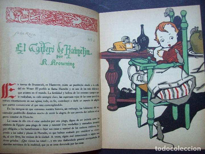 Libros antiguos: El Gaitero de Hamelín. Serie Rosa Nº 4 , Editorial Rivadeneyra . Años 20 - Foto 3 - 125427463