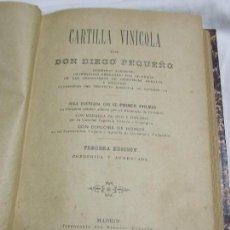 Libros antiguos: 1901. CARTILLA VINÍCOLA. Lote 125436887