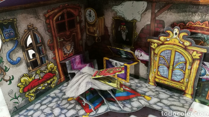 Libros antiguos: Vive una aventura. La casa encantada. Desplegable. Pop-up 3D. Impecable.Ver fotos. - Foto 11 - 150832796