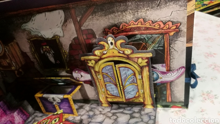 Libros antiguos: Vive una aventura. La casa encantada. Desplegable. Pop-up 3D. Impecable.Ver fotos. - Foto 12 - 150832796