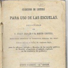 Libros antiguos: CUADERNOS DE LECTURA - PARA USO DE LAS ESCUELAS - JOAQUIN AVENDAÑO - MARIANO CARDEBERA. Lote 125447591
