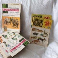 Libros antiguos: LOTE DE 60 FASCÍCULOS DE LA ENCICLOPEDIA DE CIENCIAS NATURALES BRUGUERA 1967. Lote 125455335