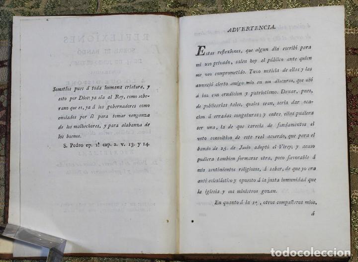 Libros antiguos: Reflexiones sobre el bando del 25 de junio • 1812 • México · Independencia · Mexicana - Foto 2 - 125493667