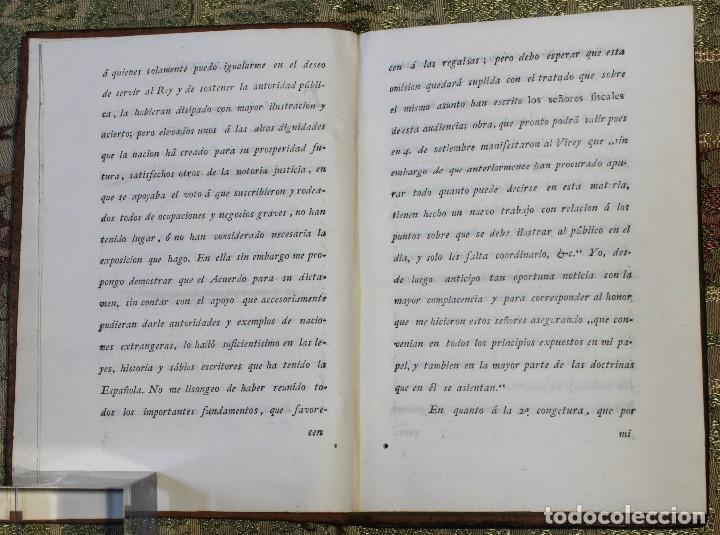 Libros antiguos: Reflexiones sobre el bando del 25 de junio • 1812 • México · Independencia · Mexicana - Foto 3 - 125493667