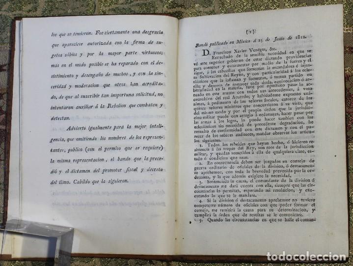 Libros antiguos: Reflexiones sobre el bando del 25 de junio • 1812 • México · Independencia · Mexicana - Foto 4 - 125493667