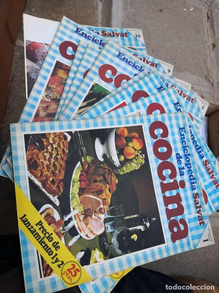 ENCICLOPEDIA TIPO REVISTA SALVAT DE LA COCINA 10 TOMOS AÑO 1979 (Libros Antiguos, Raros y Curiosos - Cocina y Gastronomía)