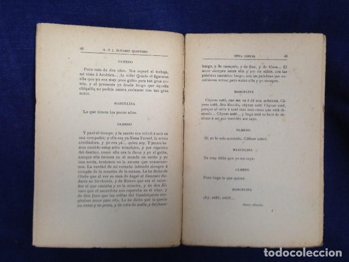 Libros antiguos: NENA TERUEL Serafín Álvarez y Joaquín Quintero comedia dos actos renacimiento 1912 - Foto 5 - 182562988