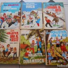 Libros antiguos: LOS HOLLISTER,6 LIBROS,AÑOS 1967-1972,TAPA DURA. Lote 125826959