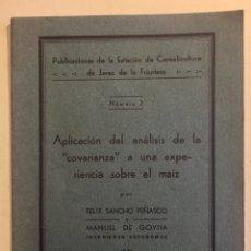 Libros antiguos: JEREZ DE LA FRONTERA- CADIZ- AGRICULTURA- ESTACION CEREACULTURA- 1.935. Lote 125714835