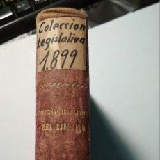 Libros antiguos: COLECCION LEGISLATIVA DEL EJERCITO 1899 MAS SEIS APENDICES. VER FOTOS. Lote 125864063