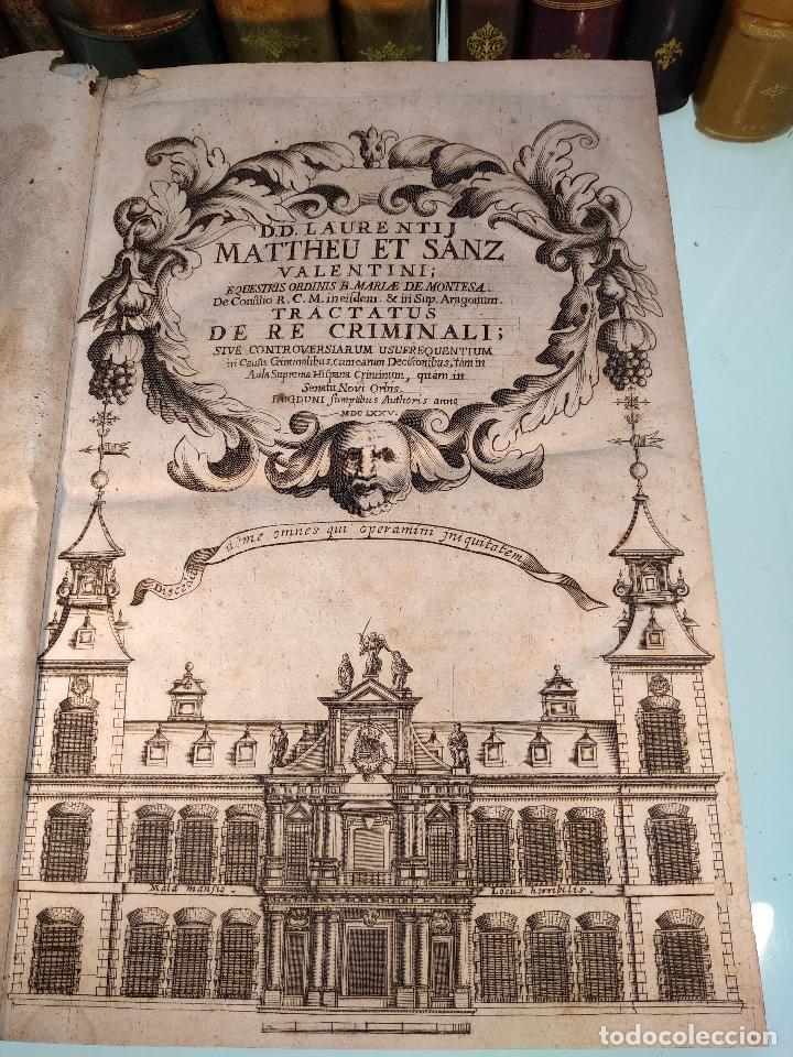 Libros antiguos: TRACTATUS DE RE CRIMINALI, SIVE CONTROVERSIARUM USUFREQUENTIU, IN CAUSIS CRIMINALIBUS.. - 1676 - - Foto 2 - 125881947