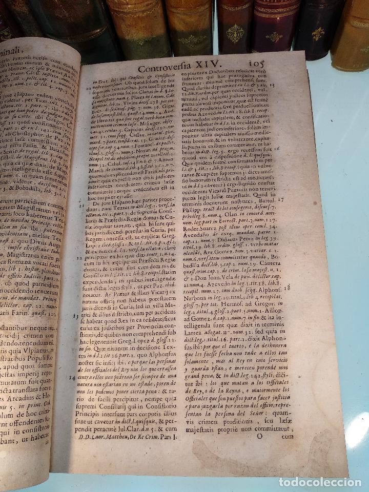 Libros antiguos: TRACTATUS DE RE CRIMINALI, SIVE CONTROVERSIARUM USUFREQUENTIU, IN CAUSIS CRIMINALIBUS.. - 1676 - - Foto 4 - 125881947