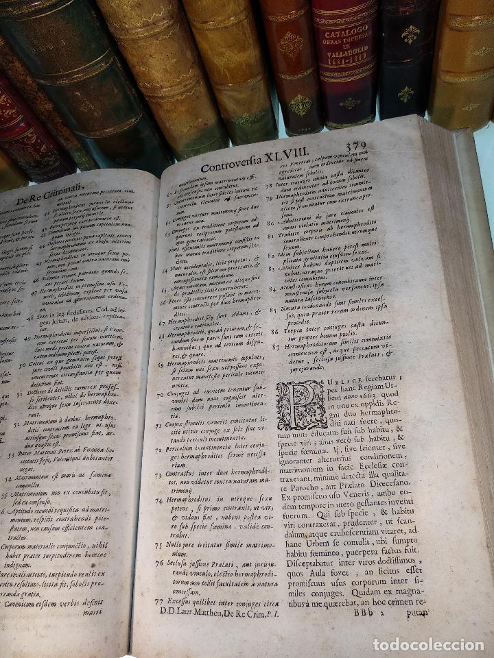 Libros antiguos: TRACTATUS DE RE CRIMINALI, SIVE CONTROVERSIARUM USUFREQUENTIU, IN CAUSIS CRIMINALIBUS.. - 1676 - - Foto 5 - 125881947