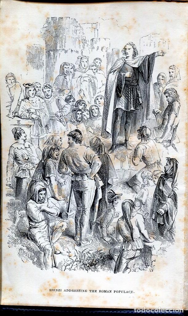 Libros antiguos: RIENZI-THE LAST OF THE ROMAN TRIBUNES EDWARD BULWER LYTTON- 1866- - Foto 2 - 125946799