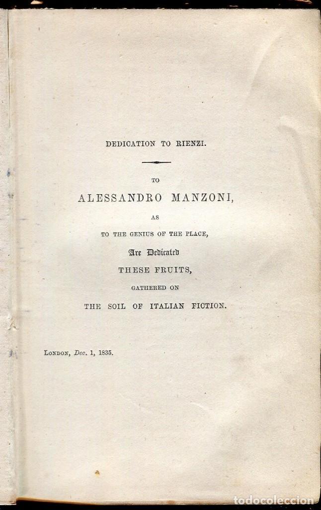 Libros antiguos: RIENZI-THE LAST OF THE ROMAN TRIBUNES EDWARD BULWER LYTTON- 1866- - Foto 3 - 125946799