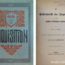 Libros antiguos: FÉRÉAL. DIE GEHEIMNISSE DER INQUISITION UND ANDERER GEHEIMEN GESELLSCHAFTEN SPANIENS. 1900. ILUSTR.. Lote 126005391