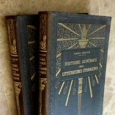 Libros antiguos: AÑO 1922 - 2 TOMOS GRANDES HISTOIRE GENERALE LITTERATURE FRANCAISE Y ETRANGERES / MAPAS CARTAS ETC. Lote 126048439