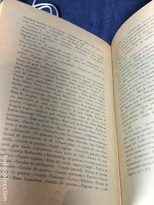 Alte Bücher: el conejo y sus productos santos aran ganaderia practica ppio s XX 21,5x16cms - Foto 9 - 126087535