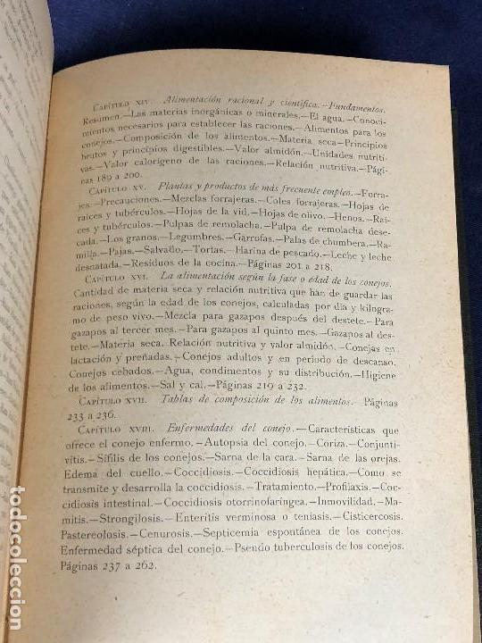 Alte Bücher: el conejo y sus productos santos aran ganaderia practica ppio s XX 21,5x16cms - Foto 10 - 126087535