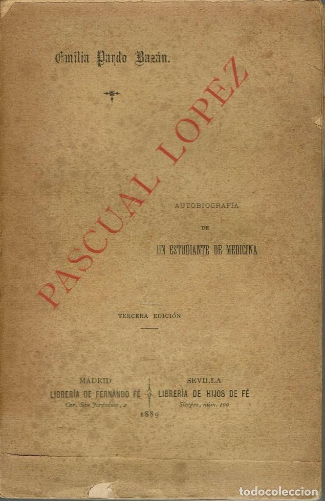 PASCUAL LÓPEZ, POR EMILIA PARDO BAZÁN. AÑO 1889 (13.4) (Libros antiguos (hasta 1936), raros y curiosos - Literatura - Narrativa - Otros)