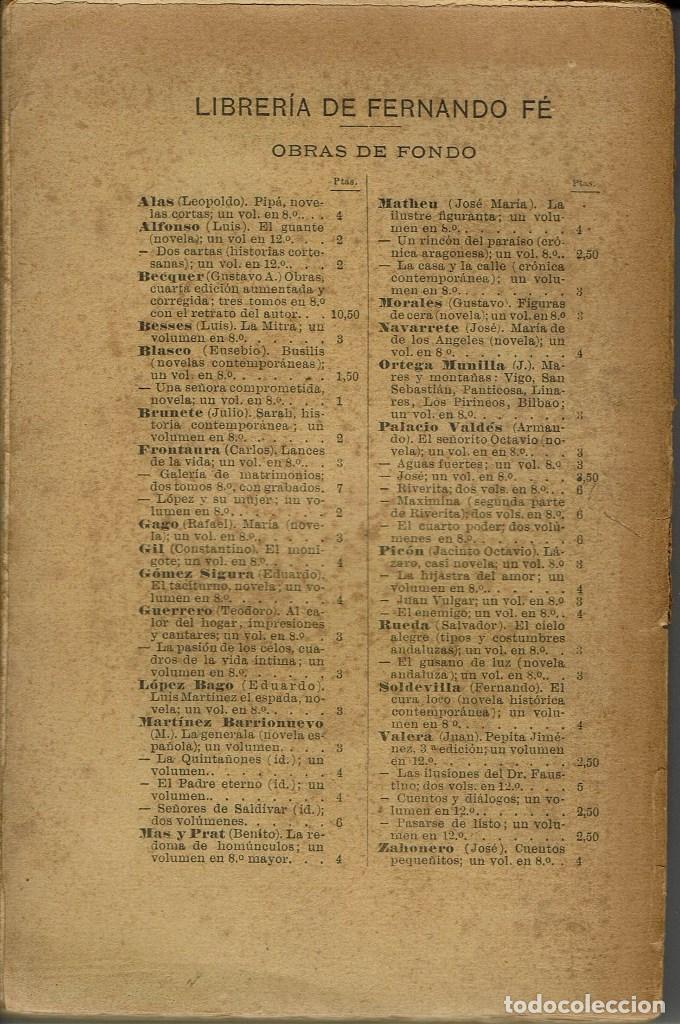 Libros antiguos: PASCUAL LÓPEZ, POR EMILIA PARDO BAZÁN. AÑO 1889 (13.4) - Foto 2 - 126103631