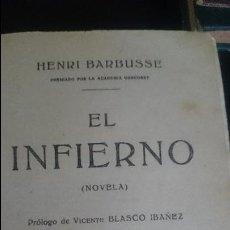 Libros antiguos: EL INFIERNO-HENRI BARBUSSE . Lote 126106851