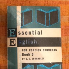 Libros antiguos: ESSENTIAL ENGLISH-BOOK 3(13€). Lote 126125235