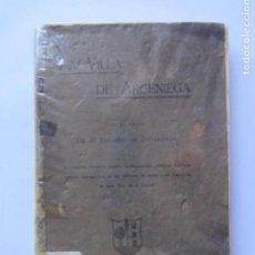 Libros antiguos: LA VILLA DE ARCENIEGA EDUARDO DE ESCARZAGA LIC. PETRUS DE ANASAGASTI, CENSOR. IMPRIMATUR: VICTORIAE . Lote 126134271