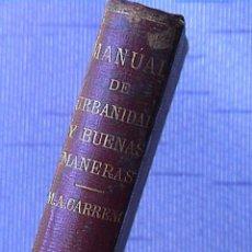 manual de urbanidad y buenas maneras. M.A.Carreño. 1872