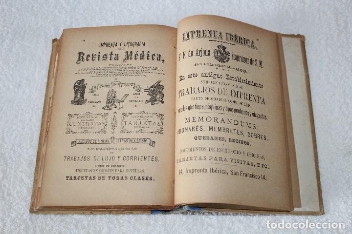 Libros antiguos: GUIA ROSETTY 1893. GUIA OFICIAL DE CÁDIZ, PUEBLOS DE LA PROVINCIA. DEPARTAMENTO MARITIMO - Foto 21 - 126197179