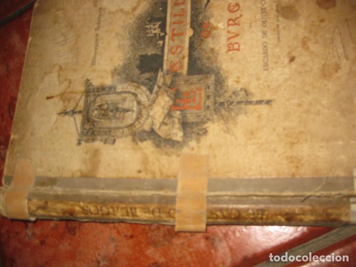 Libros antiguos: Monografia historica . el castillo de burgos . Eduardo de oliver .1893 il. barrio cortes . 226 pág - Foto 3 - 126212883