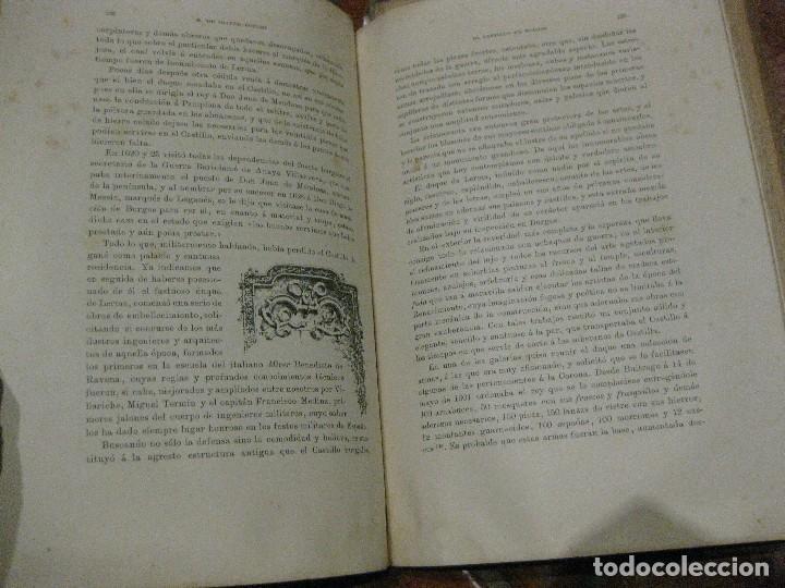 Libros antiguos: Monografia historica . el castillo de burgos . Eduardo de oliver .1893 il. barrio cortes . 226 pág - Foto 7 - 126212883